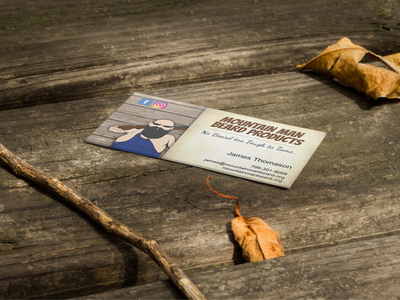 Mountain Man Beard Products Business Cards